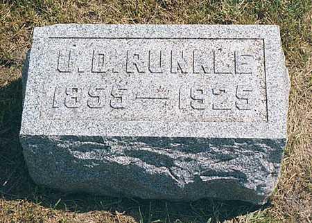 RUNKLE, URIAS DANIEL - Cedar County, Iowa | URIAS DANIEL RUNKLE