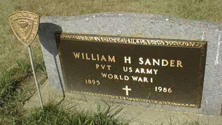 SANDER, WILLIAM H. - Cedar County, Iowa | WILLIAM H. SANDER