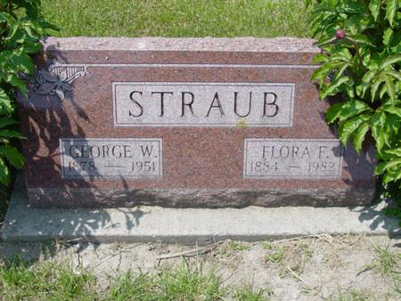 STRAUB, FLORA F. - Cedar County, Iowa | FLORA F. STRAUB