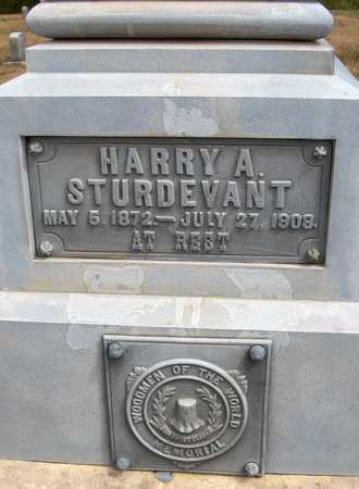 STURDEVANT, HARRY A. - Cedar County, Iowa | HARRY A. STURDEVANT