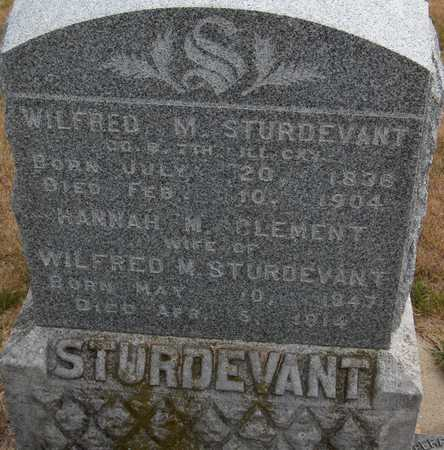 STURDEVANT, WILFRED M. - Cedar County, Iowa | WILFRED M. STURDEVANT