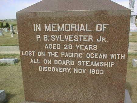 SYLVESTER, P.B. JR. - Cedar County, Iowa | P.B. JR. SYLVESTER