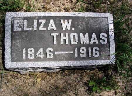 THOMAS, ELIZA W. - Cedar County, Iowa | ELIZA W. THOMAS