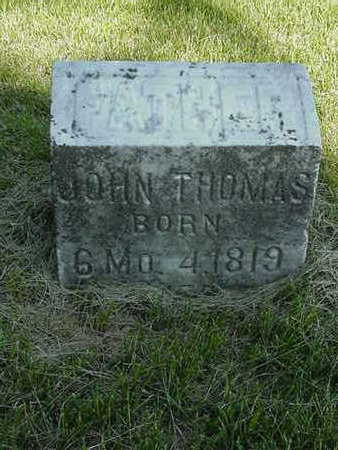 THOMAS, JOHN - Cedar County, Iowa | JOHN THOMAS