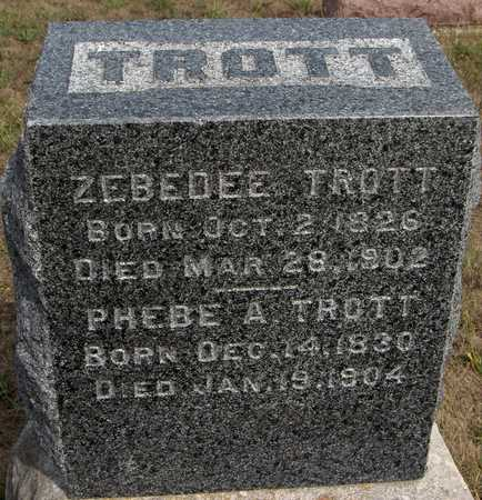 TROTT, ZEBEDEE - Cedar County, Iowa | ZEBEDEE TROTT