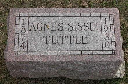 TUTTLE, AGNES - Cedar County, Iowa | AGNES TUTTLE