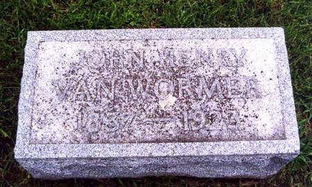 VAN WORMER, JOHN HENRY - Cedar County, Iowa | JOHN HENRY VAN WORMER