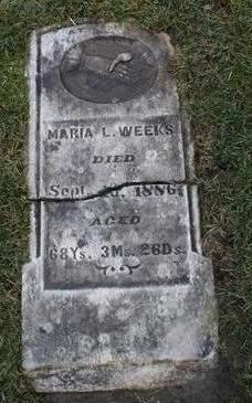 WEEKS, MARIA - Cedar County, Iowa   MARIA WEEKS