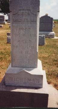 WIGHTMAN, JOSEPH - Cedar County, Iowa | JOSEPH WIGHTMAN