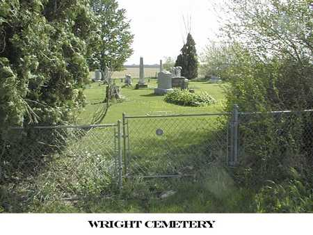 WRIGHT, CEMETERY - Cedar County, Iowa | CEMETERY WRIGHT