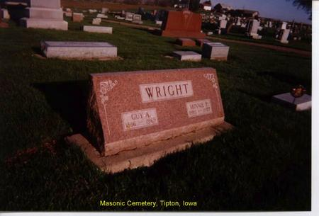 RIDENOUR WRIGHT, MINNIE - Cedar County, Iowa | MINNIE RIDENOUR WRIGHT