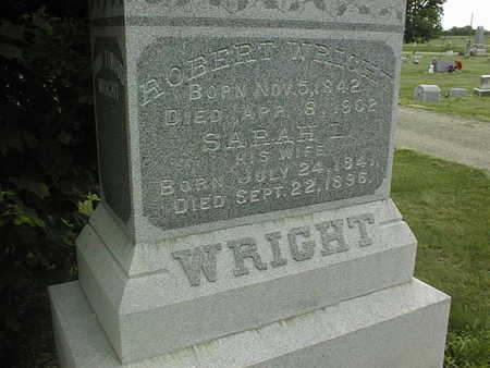WRIGHT, SARAH L. - Cedar County, Iowa | SARAH L. WRIGHT