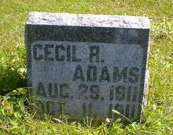 ADAMS, CECIL R. - Cerro Gordo County, Iowa | CECIL R. ADAMS