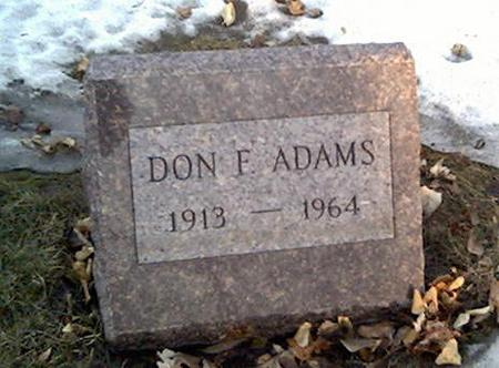 ADAMS, DON - Cerro Gordo County, Iowa | DON ADAMS