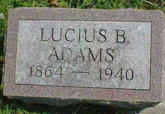 ADAMS, LUCIUS B. - Cerro Gordo County, Iowa | LUCIUS B. ADAMS