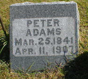 ADAMS, PETER - Cerro Gordo County, Iowa | PETER ADAMS