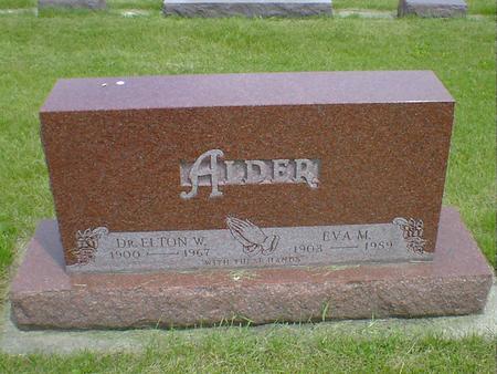 ALDER, EVA M. - Cerro Gordo County, Iowa | EVA M. ALDER