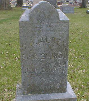 ALDER, G. B. - Cerro Gordo County, Iowa | G. B. ALDER
