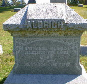 ALDRICH, MARY - Cerro Gordo County, Iowa | MARY ALDRICH