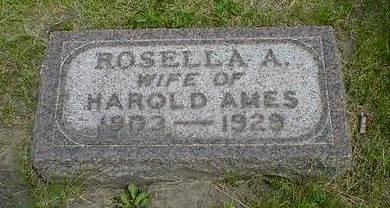 AMES, ROSELLA A. - Cerro Gordo County, Iowa | ROSELLA A. AMES