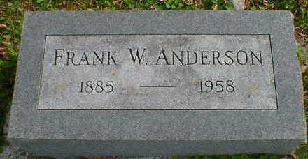 ANDERSON, FRANK W. - Cerro Gordo County, Iowa | FRANK W. ANDERSON