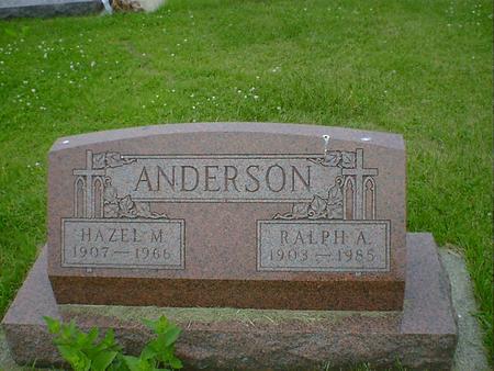 ANDERSON, HAZEL M. - Cerro Gordo County, Iowa | HAZEL M. ANDERSON
