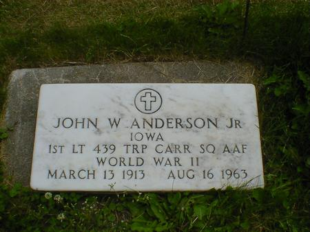 ANDERSON, JOHN W., JR. - Cerro Gordo County, Iowa | JOHN W., JR. ANDERSON