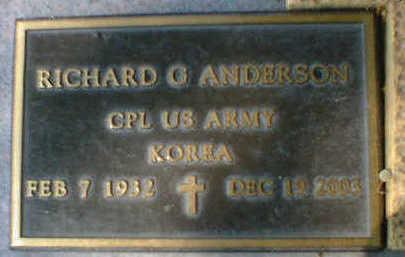 ANDERSON, RICHARD G. - Cerro Gordo County, Iowa   RICHARD G. ANDERSON