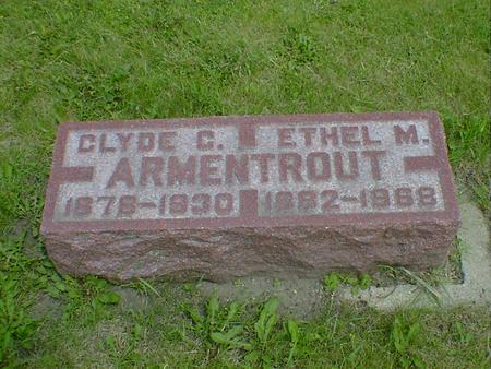 ARMENTROUT, ETHEL M. - Cerro Gordo County, Iowa | ETHEL M. ARMENTROUT