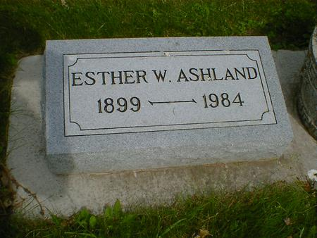 ASHLAND, ESTHER W. - Cerro Gordo County, Iowa | ESTHER W. ASHLAND