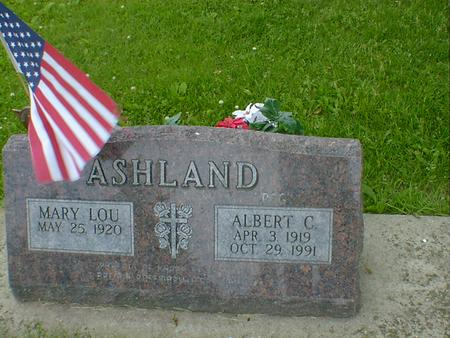 ASHLAND, ALBERT C. - Cerro Gordo County, Iowa | ALBERT C. ASHLAND