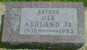 ASHLAND, OLE JR. - Cerro Gordo County, Iowa | OLE JR. ASHLAND