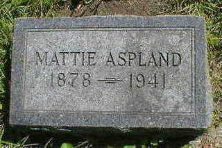 ASPLAND, MATTIE - Cerro Gordo County, Iowa | MATTIE ASPLAND