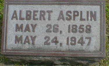 ASPLIN, ALBERT - Cerro Gordo County, Iowa   ALBERT ASPLIN