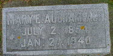 AUCHAMPACH, MARY E. - Cerro Gordo County, Iowa | MARY E. AUCHAMPACH