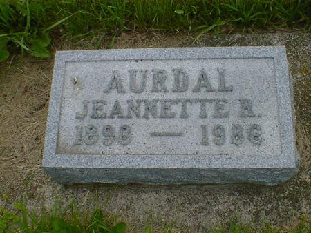 AURDAL, JEANNETTE (ROSEMOND) - Cerro Gordo County, Iowa | JEANNETTE (ROSEMOND) AURDAL