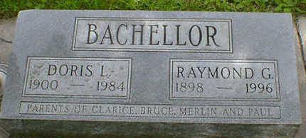 BACHELLOR, RAYMOND G. - Cerro Gordo County, Iowa | RAYMOND G. BACHELLOR