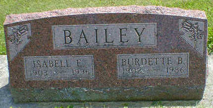 BAILEY, BURDETTE B. - Cerro Gordo County, Iowa | BURDETTE B. BAILEY