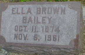 BROWN BAILEY, ELLA - Cerro Gordo County, Iowa | ELLA BROWN BAILEY