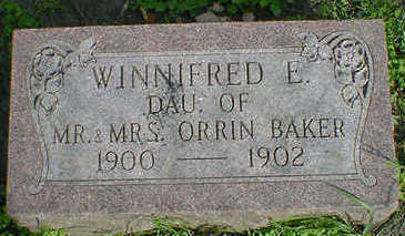 BAKER, WINNIFRED E. - Cerro Gordo County, Iowa | WINNIFRED E. BAKER