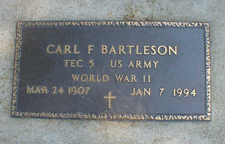 BARTLESON, CARL F. - Cerro Gordo County, Iowa | CARL F. BARTLESON