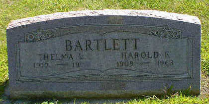 BARTLETT, HAROLD F. - Cerro Gordo County, Iowa | HAROLD F. BARTLETT