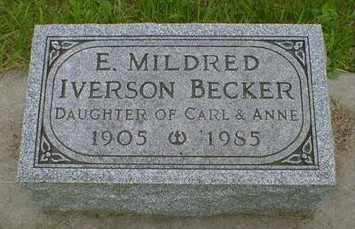 IVERSON BECKER, E. MILDRED - Cerro Gordo County, Iowa | E. MILDRED IVERSON BECKER