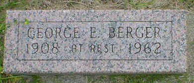 BERGER, GEORGE E. - Cerro Gordo County, Iowa | GEORGE E. BERGER