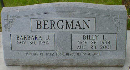 BERGMAN, BILLY L. SR. - Cerro Gordo County, Iowa | BILLY L. SR. BERGMAN