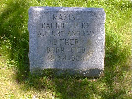 BITKER, MAXINE - Cerro Gordo County, Iowa | MAXINE BITKER