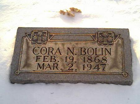 BOLIN, CORA - Cerro Gordo County, Iowa | CORA BOLIN