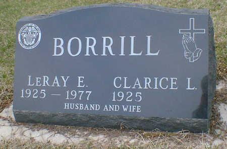 BORRILL, LERAY ELMER