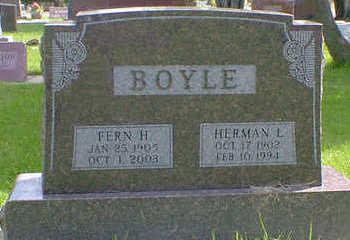 BOYLE, FERN H. - Cerro Gordo County, Iowa | FERN H. BOYLE