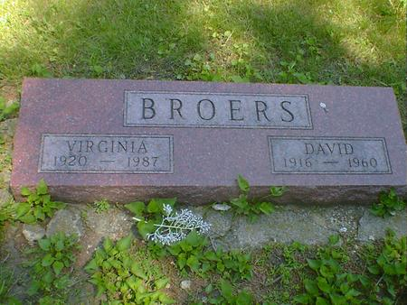 BROERS, DAVID - Cerro Gordo County, Iowa | DAVID BROERS